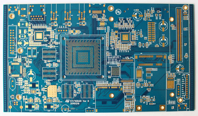 8 Layers 1.6mm Thickness BGA PCB Board Reverse