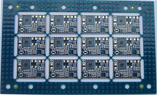 6 Layers Blue Solder Mask Immersion Gold PCB Copy